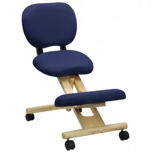 Ergonomic Stool with Reclining Back