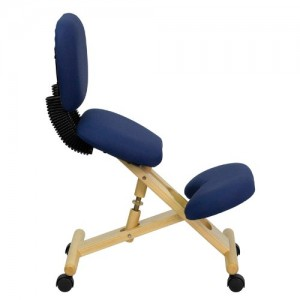 flash furniture wooden ergonomic posture stool with reclining back